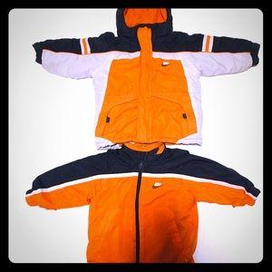 Nike Boys Coat Matching Reversible Jacket 3T Kids